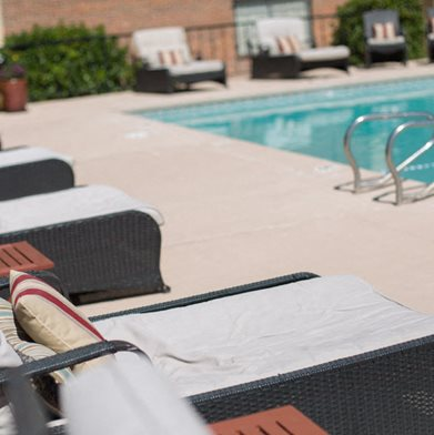 Seasonal Beautiful Outdoor Swimming Pool at The Towers Apartments, Albuquerque, 87109