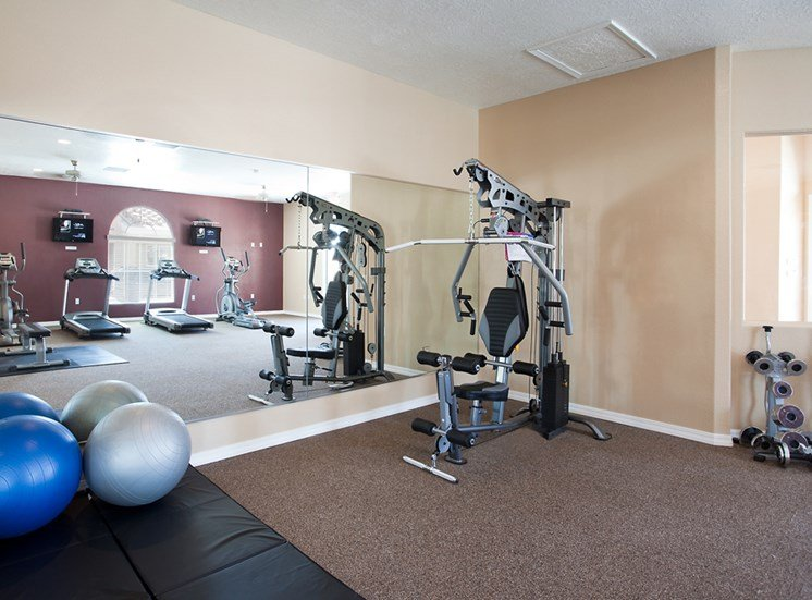 On site fitness center at at Cantatat Cantata at the Trails Apartments, Albuquerque, 87114