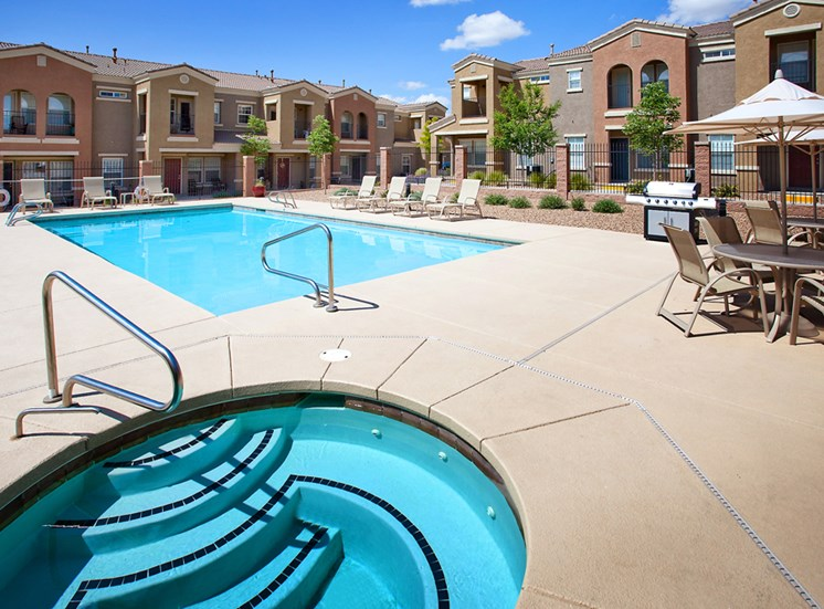 Refreshing Pool and Spa at Cantata at the Trails Apartments, Albuquerque, New Mexico