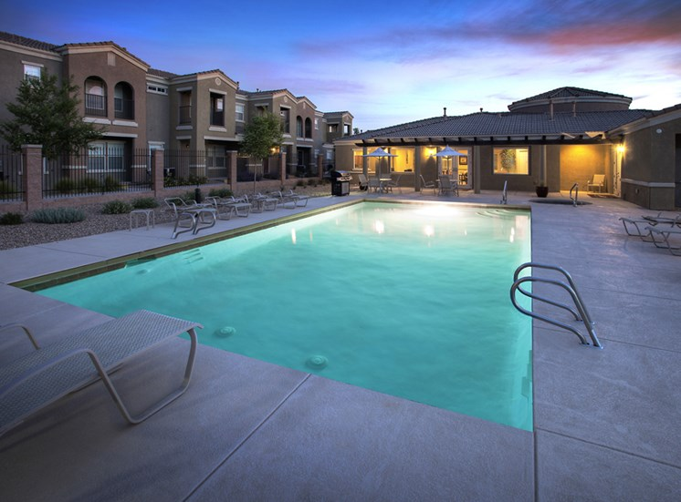 Lighted Sparkling Pool at Cantata at the Trails Apartments, Albuquerque, 87114
