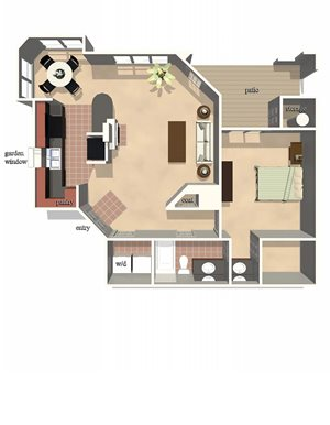 Derby Floor Plan at Lexington Farms Apartment Homes in Raleigh, North Carolina, NC