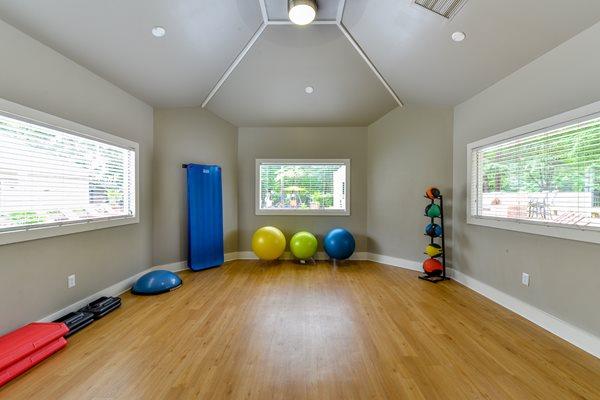 Yoga Studio at Lexington Farms Apartment Homes in Raleigh, North Carolina, NC