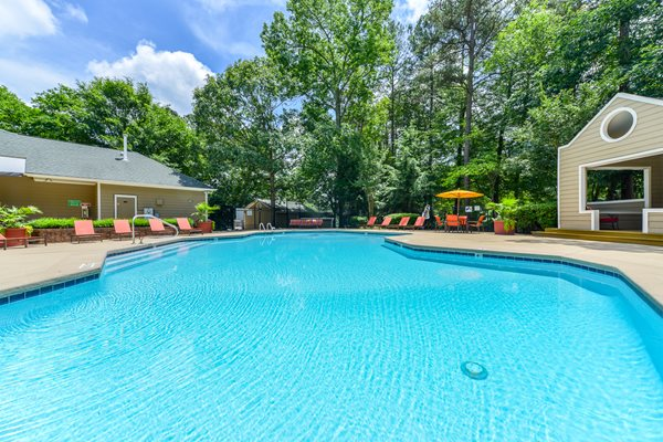 Outdoor Pool with Sundeck at Lexington Farms Apartment Homes in Raleigh, North Carolina, NC