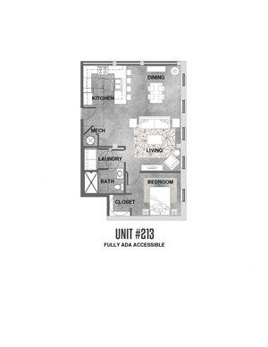 ADA - 1 Bedroom - 1 Bathroom