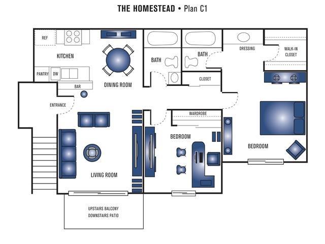 Plan C1 Floor Plan 6