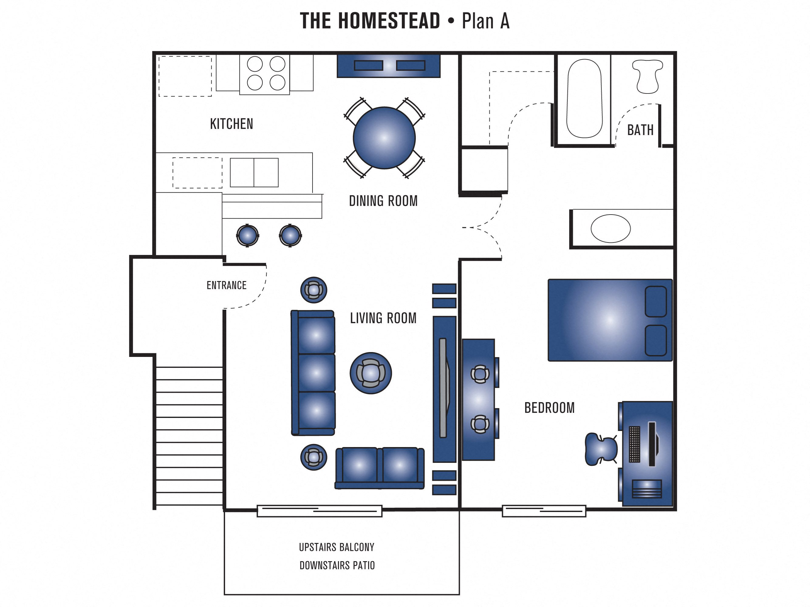The Homestead Apartments Fullerton Plan A