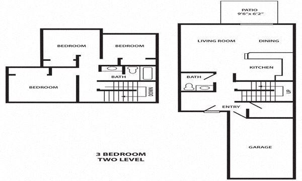 3 Bedroom 1.5 Bathroom