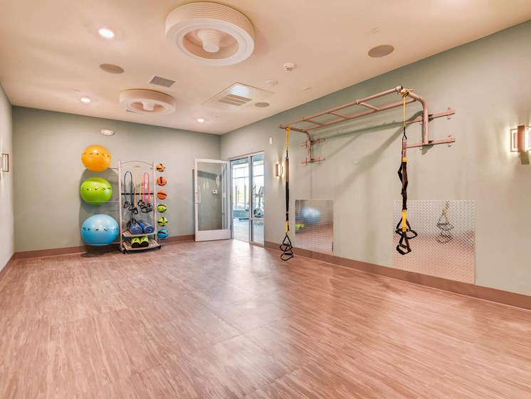 state of the art 24 hr fitness center with yoga and kettle bell classes