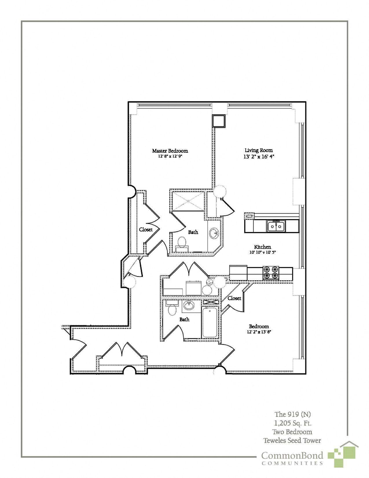 2BR Floor Plan 5