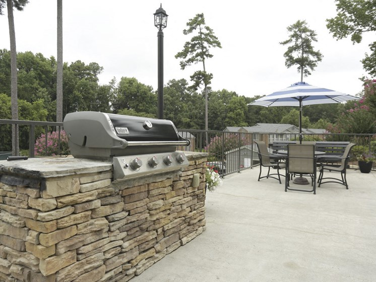 Gas Grill on Social Deck