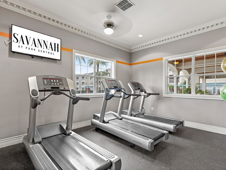 High-Tech Fitness Center at Savannah at Park Central, Orlando, Florida