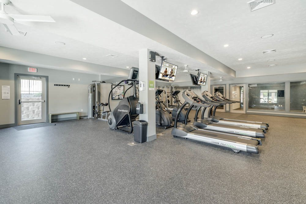 24 hour fitness center at The Villas at Mahoney Park