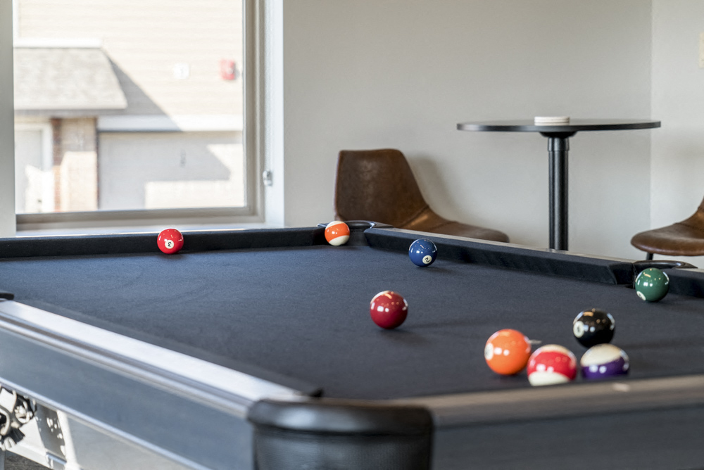 Pool Table In Villas At Mahoney Park Clubhouse In Northeast LIncoln