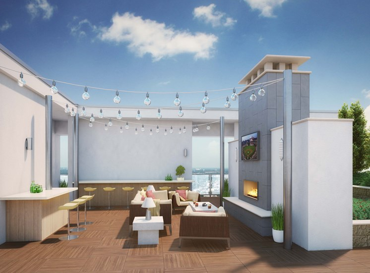 Rooftop Deck- Luxury Apartments in Houston- Azure Houston