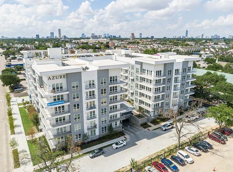 Aerial view of Azure Houston Apartments in Houston, Texas