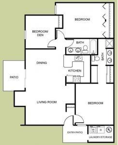 Renaissance - 3 Bedroom, 2 Bath Floor Plan 6