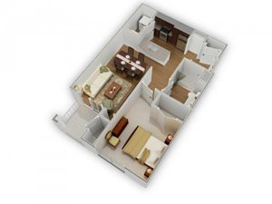The Trent A-2 Floorplan at Phillips Mallard Creek Apartments, 28262