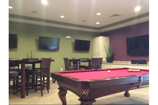 Sports Bar Style Billiards Room at Phillips Mallard Creek Apartments, Charlotte, NC 28262