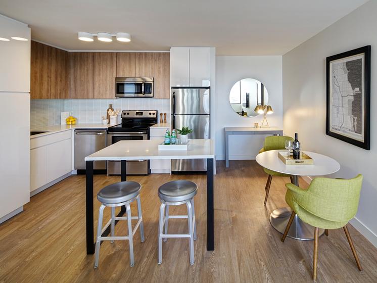 Modern Floor Plan at The Kent, Chicago, Illinois