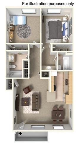 2 Bedroom - Downstairs