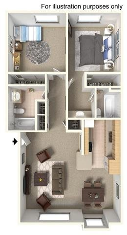 2 Bedroom - Upstairs
