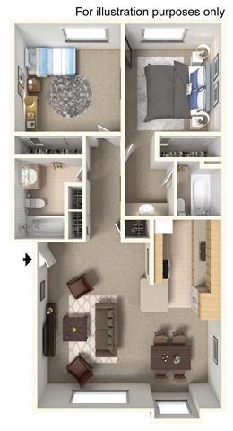 2 Bedroom - Upstairs Floor Plan 3