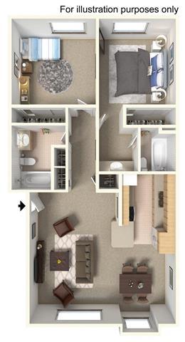 2 Bedroom   Upstairs Floor Plan 3