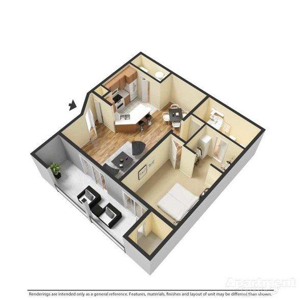 Andover - Renovated Floor Plan 1
