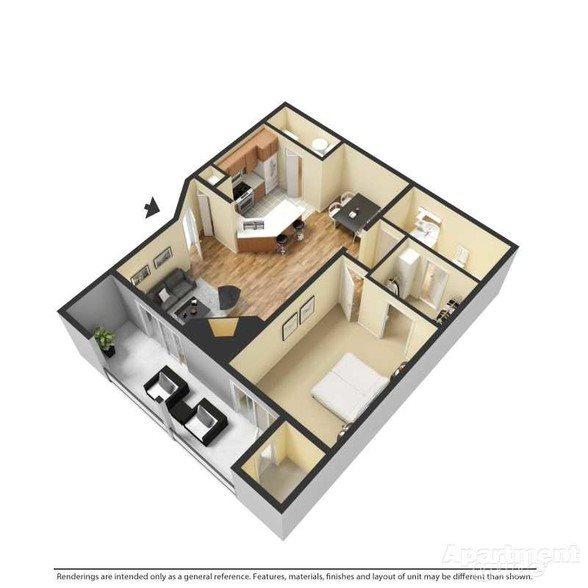 Camden - Renovated Floor Plan 2