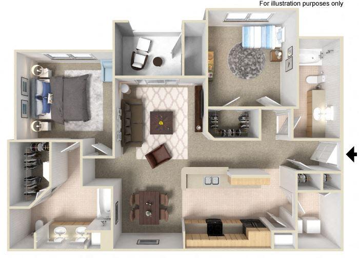 2 BedroomFloor Plan  Units available at Silverado Crossings