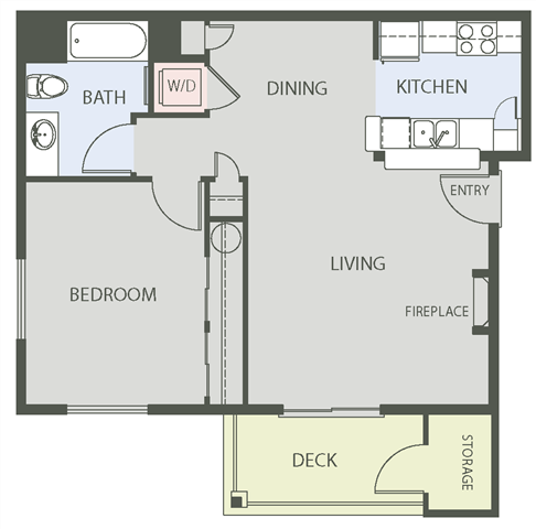 Floorplan at The Arbors at Edgewood Apartments, Edgewood, 98372