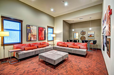 Media Lounge with Wi-Fi at The Arbors at Edgewood Apartments, 10304 20th Street E, Edgewood, WA