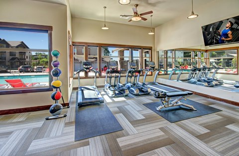 24 Hour Fitness Center at The Arbors at Edgewood Apartments, Edgewood, WA