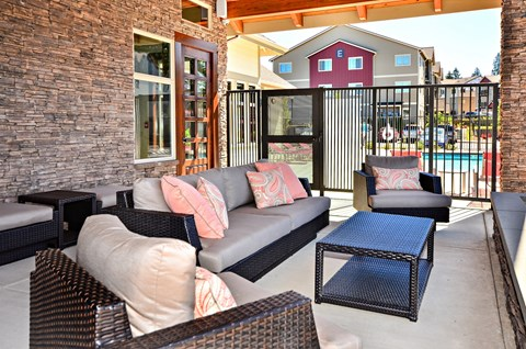 Barbecue Deck at The Arbors at Edgewood Apartments, Edgewood, Washington