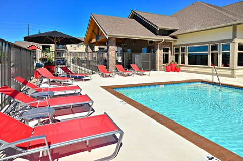 Resort -style Sundeck at The Arbors at Edgewood Apartments, Edgewood, 98372