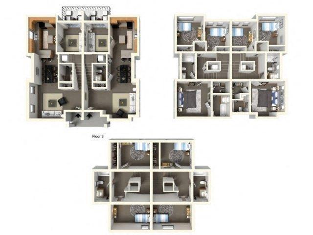 Floorplan at The Villas in Bellevue Apartments, 595 156th Avenue SE