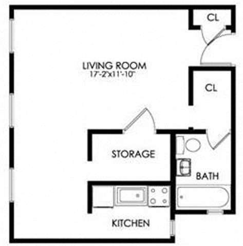 Efficiencies Floor Plan 1