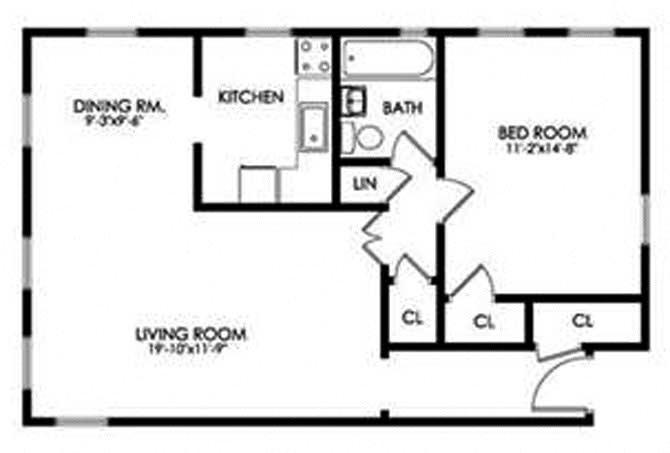 1 Bedroom - Large Floor Plan 3