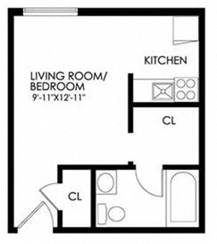 Efficiencies Floor Plan 1