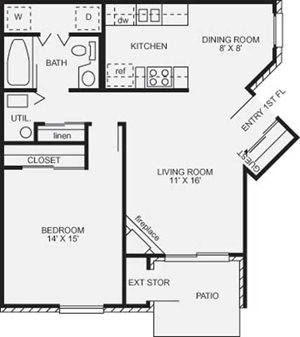 1 Bedroom Cambridge