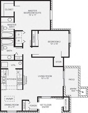 2 Bedroom Chelsea Skylight