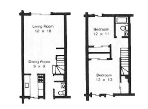 Chestnut Townhome, 2 Bed, 1.5 Bath