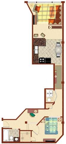 The Merchant 1BR 667-755 sq ft