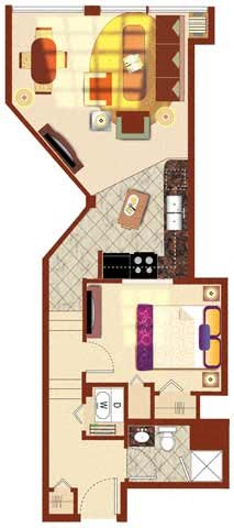 The Patterson 1BR 604-631 sq ft