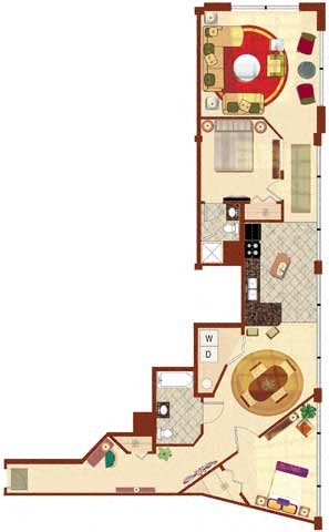 The St Clair 2BR 1225 sq ft