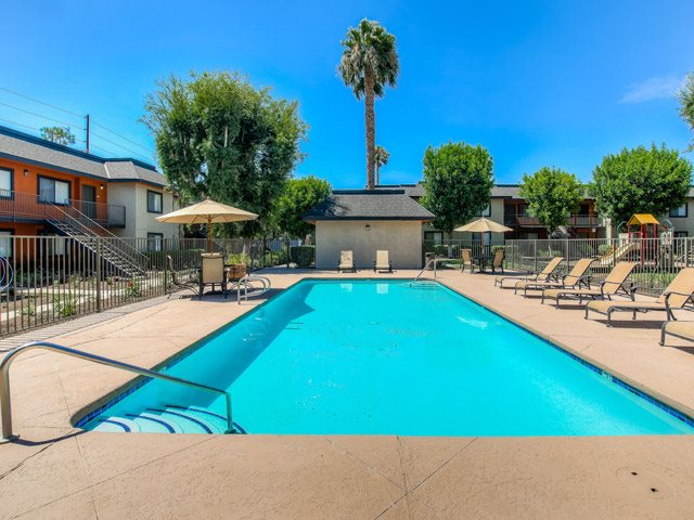 Sparkling Swimming Pool at Riverwalk Landing Apartment Homes, Riverside, California