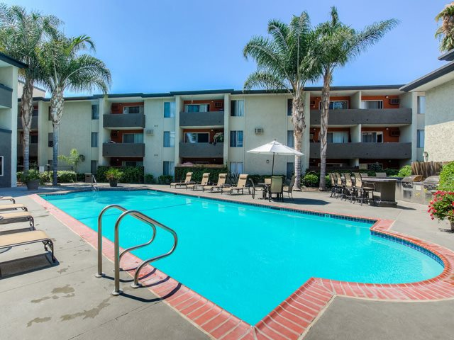 Sparkling Swimming Pool at Cornerstone Apartments, Canoga Park, CA