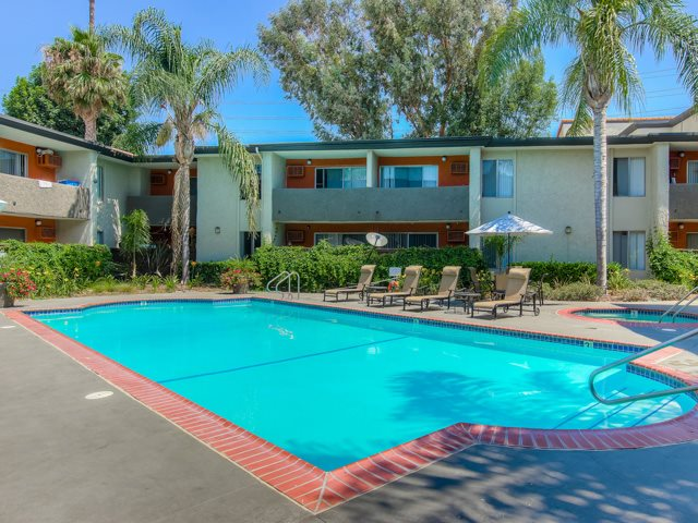 Seasonal Beautiful Outdoor Swimming Pool at Cornerstone Apartments, Canoga Park, 91304