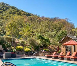 Sparkling Swimming Pool with Sundeck, BBQ, and Lounge Area, Novato, California, 94949