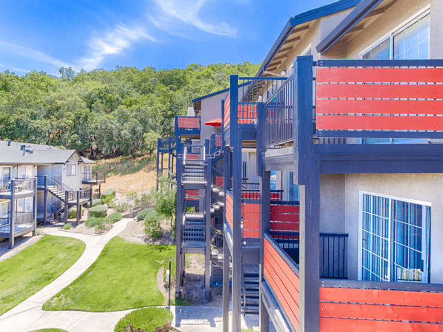 Beautiful Private Patios or Balconies at Crooked Oak at Loma Verde Preserve, CA, 94949
